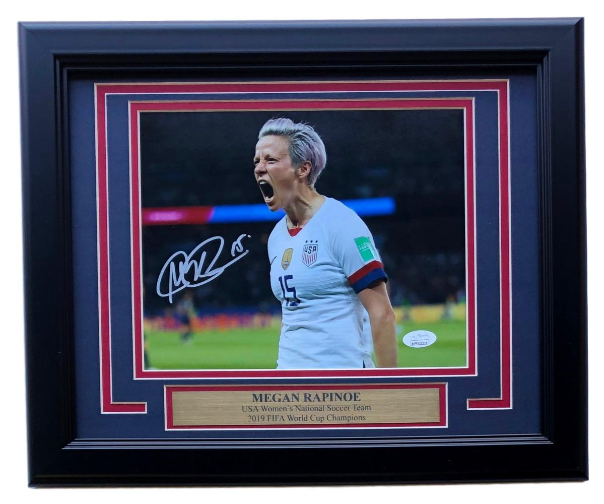 Megan Rapinoe Team USA Signed Framed 8x10 Celebration Photo JSA PSM-Powers Sports Memorabilia