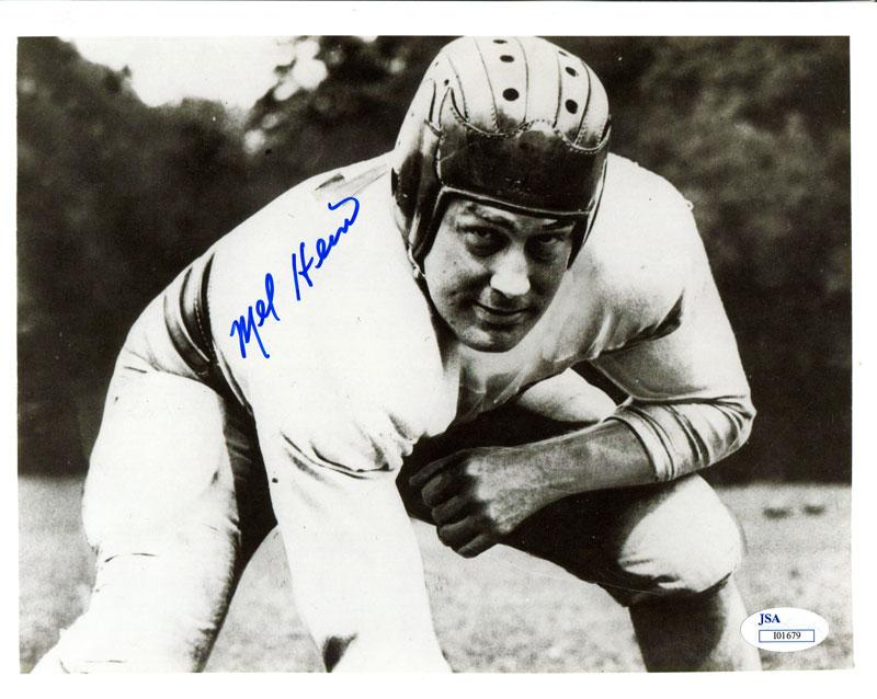 Mel Hein Autographed 8x10 Photo PSM-Powers Sports Memorabilia
