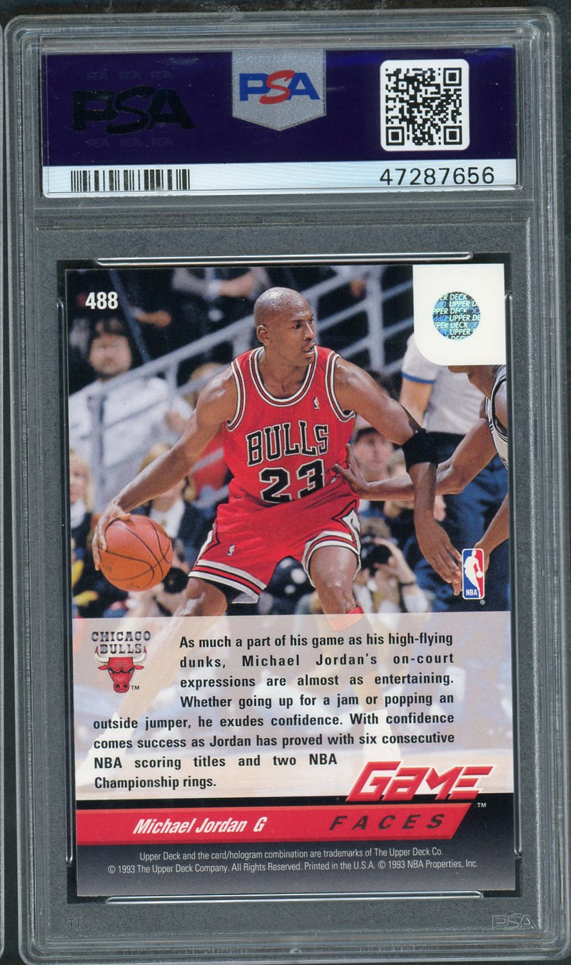 Michael Jordan Chicago Bulls 1992 Upper Deck Basketball Card #488 Graded PSA 9 MINMichael Jordan Chicago Bulls 1992 Upper Deck Basketball Card #488 Graded PSA 9 MINT-Powers Sports Memorabilia