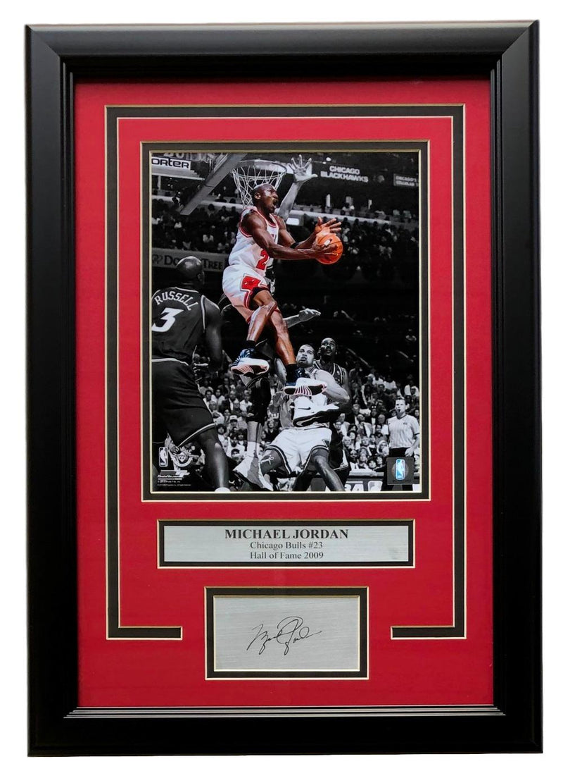 Michael Jordan Chicago Bulls Framed 8x10 Photo w/ Laser Signature PSM-Powers Sports Memorabilia