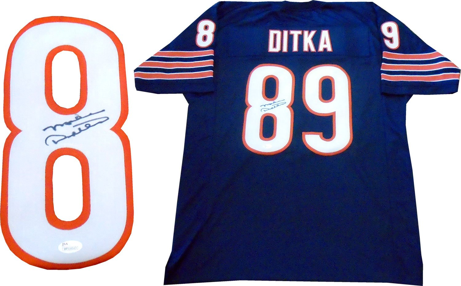 Mike Ditka Autographed Chicago Bears Jersey (JSA) PSM-Powers Sports Memorabilia