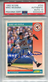 Mike Mussina Autographed 1992 Score Card (PSA) PSM-Powers Sports Memorabilia