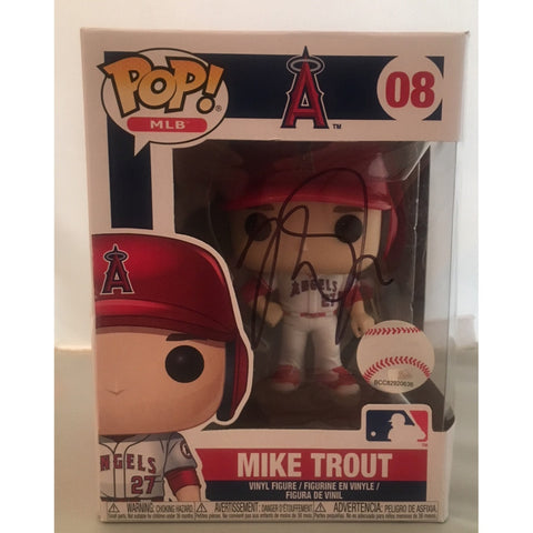 Mike Trout Autographed Los Angeles Angels Signed Baseball Funko Pop PSA DNA COA 1-Powers Sports Memorabilia