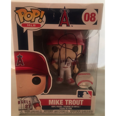 Mike Trout Autographed Los Angeles Angels Signed Baseball Funko Pop PSA DNA COA 2-Powers Sports Memorabilia