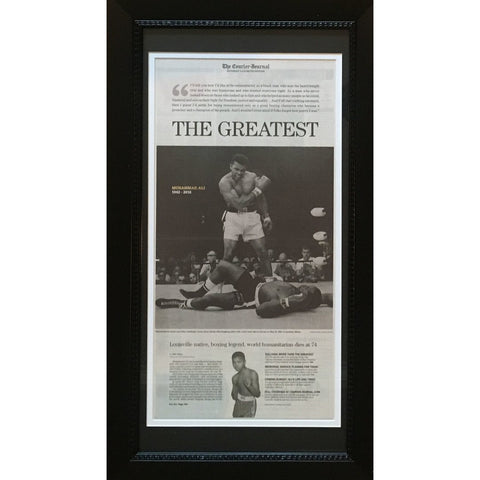 Muhammad Ali Framed Louisville Courier Journal Newspaper Day After Death Boxing Legend Photo