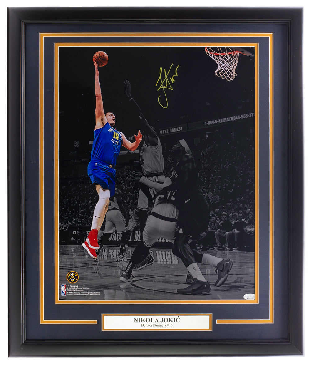 Nikola Jokic Denver Nuggets Signed Framed 16x20 Spotlight Photo JSA ITP PSM-Powers Sports Memorabilia