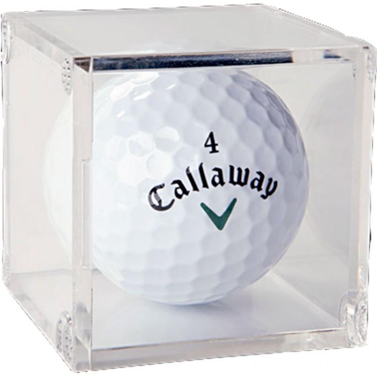 Golf Ball Acrylic Display Cube Box of 6 PSM-Powers Sports Memorabilia