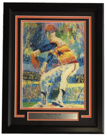 Leroy Neiman Framed 11x14 Nolan Ryan Houston Astros Baseball Print PSM-Powers Sports Memorabilia