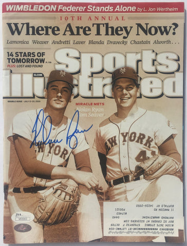 Nolan Ryan Signed July 2009 Sports Illustrated Magazine JSA+Ryan Hologram PSM-Powers Sports Memorabilia