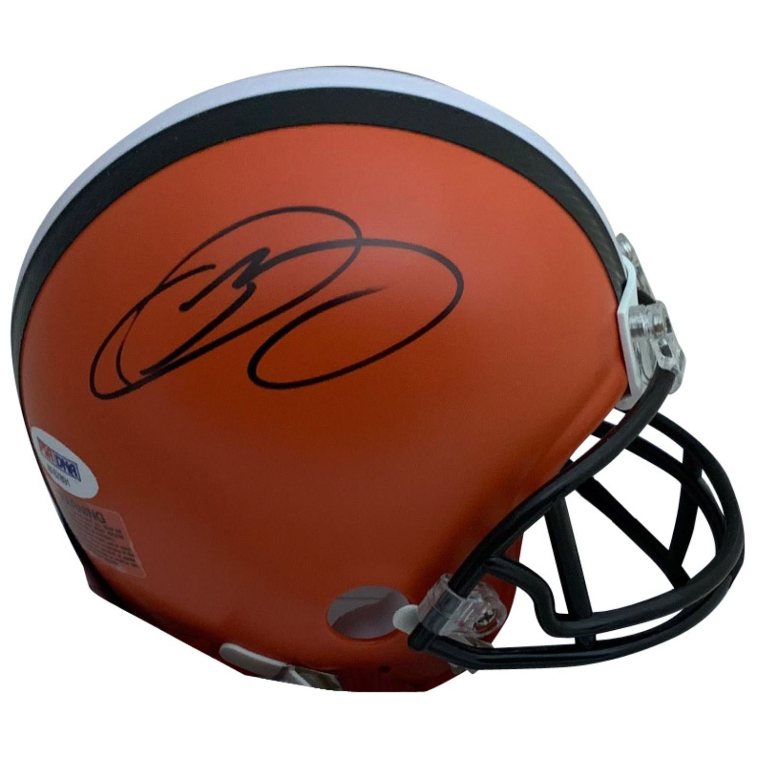 Odell Beckham Jr Autographed Cleveland Browns Signed NFL Football Mini Helmet PSA DNA COA-Powers Sports Memorabilia
