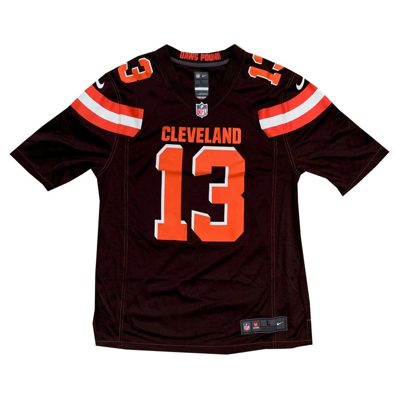 Odell Beckham Jr Autographed Cleveland Browns Signed Nike Game Football Jersey PSA DNA COA-Powers Sports Memorabilia