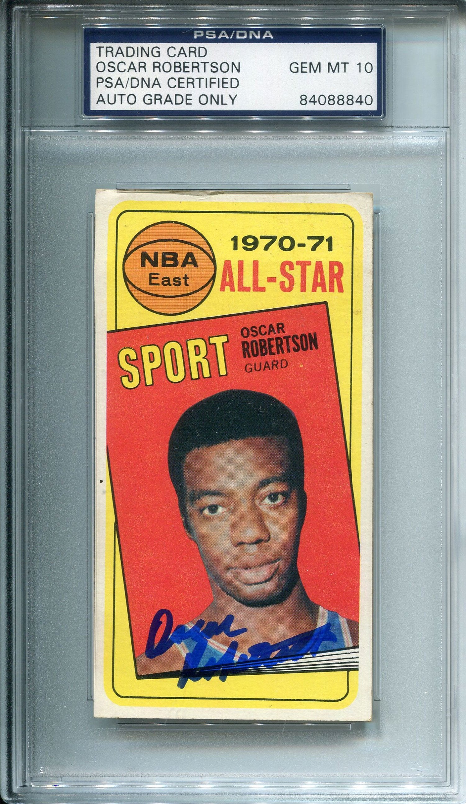 Oscar Robertson Autographed 1970 Topps Card (PSA/DNA) PSM-Powers Sports Memorabilia