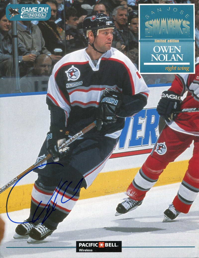 Owen Nolan Autographed San Jose Sharks 8x10 Photo PSM-Powers Sports Memorabilia