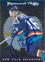 Zigmund Palffy New York Islanders 1997 Donruss Elite Foil Autographed Card. This item comes with a certificate of authenticity from Autograph-Sports. PSM-Powers Sports Memorabilia