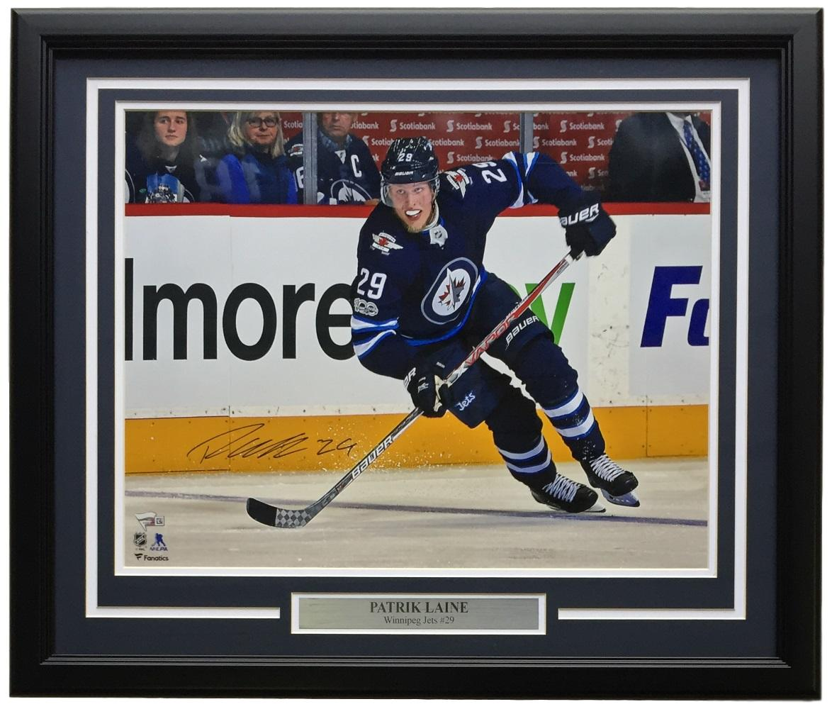 Patrick Laine Signed Framed 16x20 Winnipeg Jets Photo Fanatics PSM