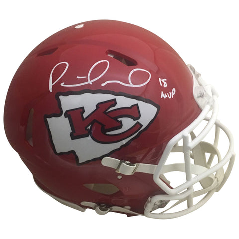 Patrick Mahomes Autographed Kansas City Chiefs Signed Authentic Full Size Speed Helmet 18 NFL MVP BAS Beckett COA-Powers Sports Memorabilia