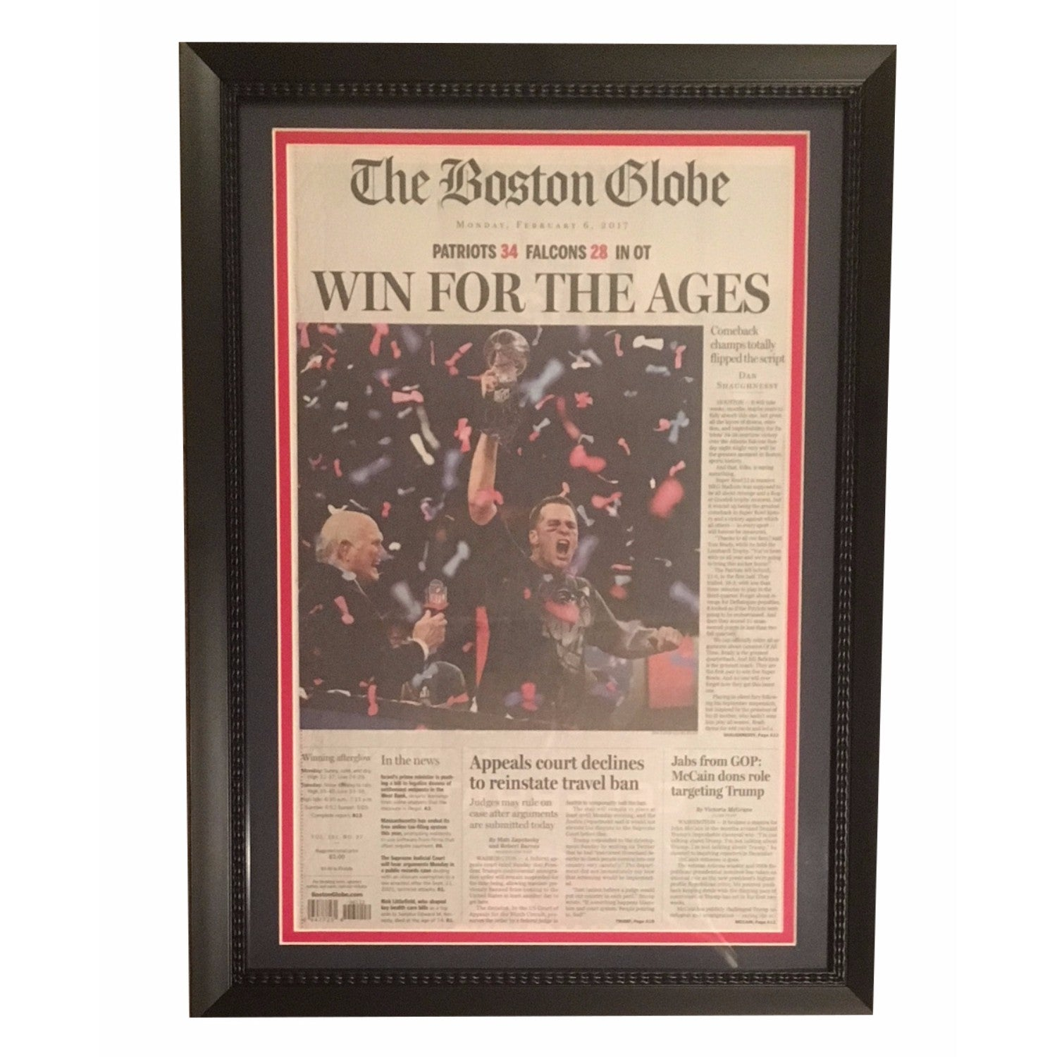 Football Framed Newspapers