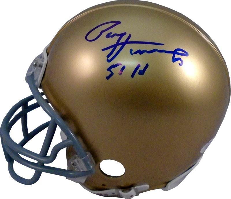 "Paul Hornung ""51 HT"" Autographed Notre Dame Fighting Irish Mini Helmet (JSA) PSM-Powers Sports Memorabilia"