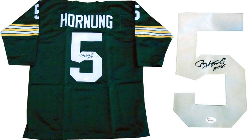 "Paul Hornung ""HOF 86"" Autographed Green Bay Packers Jersey (JSA) PSM-Powers Sports Memorabilia"