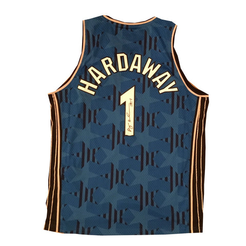 Anfernee Penny Hardaway Autographed Orlando Magic Blue Swingman Signed Basketball Jersey JSA COA-Powers Sports Memorabilia
