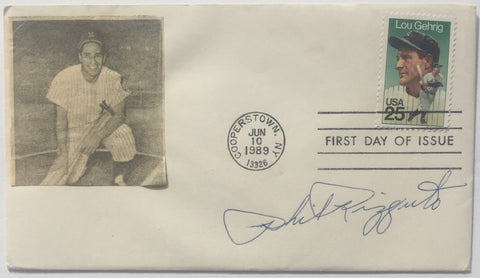 Phil Rizzuto New York Yankees Signed Bat First Day Cover BAS PSM-Powers Sports Memorabilia