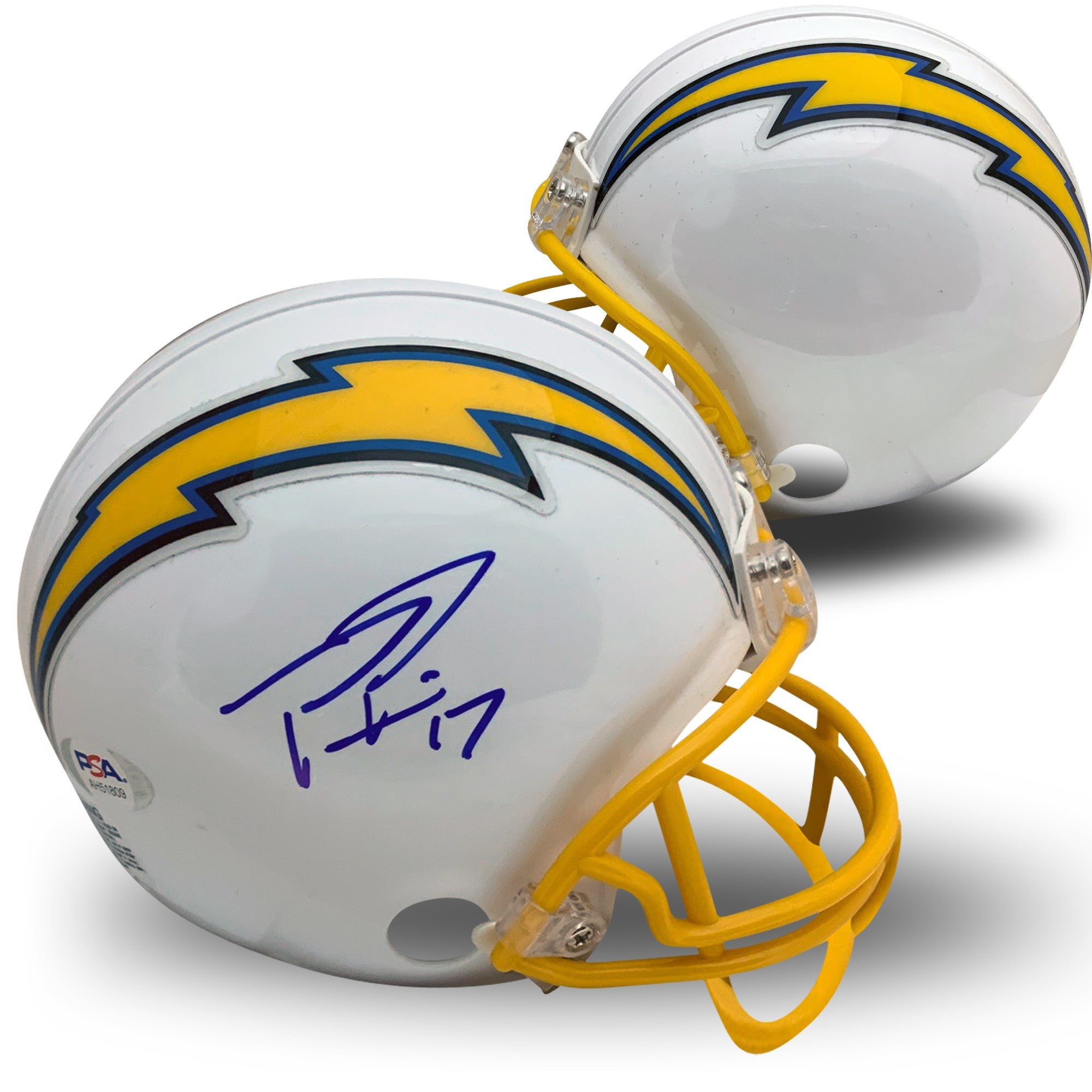 Philip Rivers Autographed Los Angeles  Chargers Signed NFL Football Mini Helmet PSA DNA COA