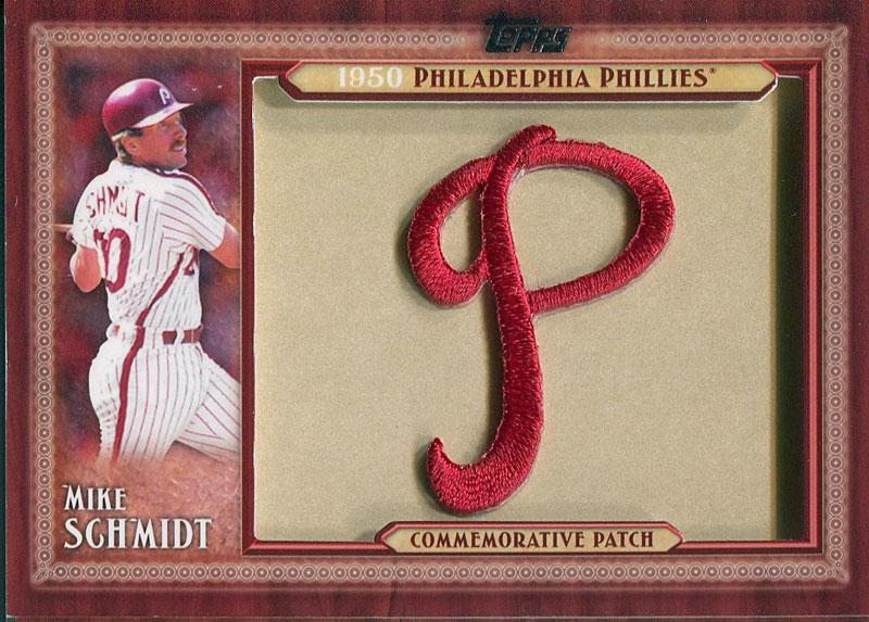 Mike Schmidt Unsigned Topps Philadelphia Philies Commemorative Patch Card PSM-Powers Sports Memorabilia