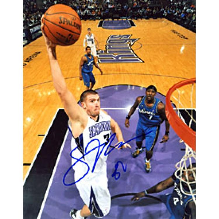 Spencer Hawes Autographed / Signed Sacramento Kings 8x10 Photo PSM-Powers Sports Memorabilia