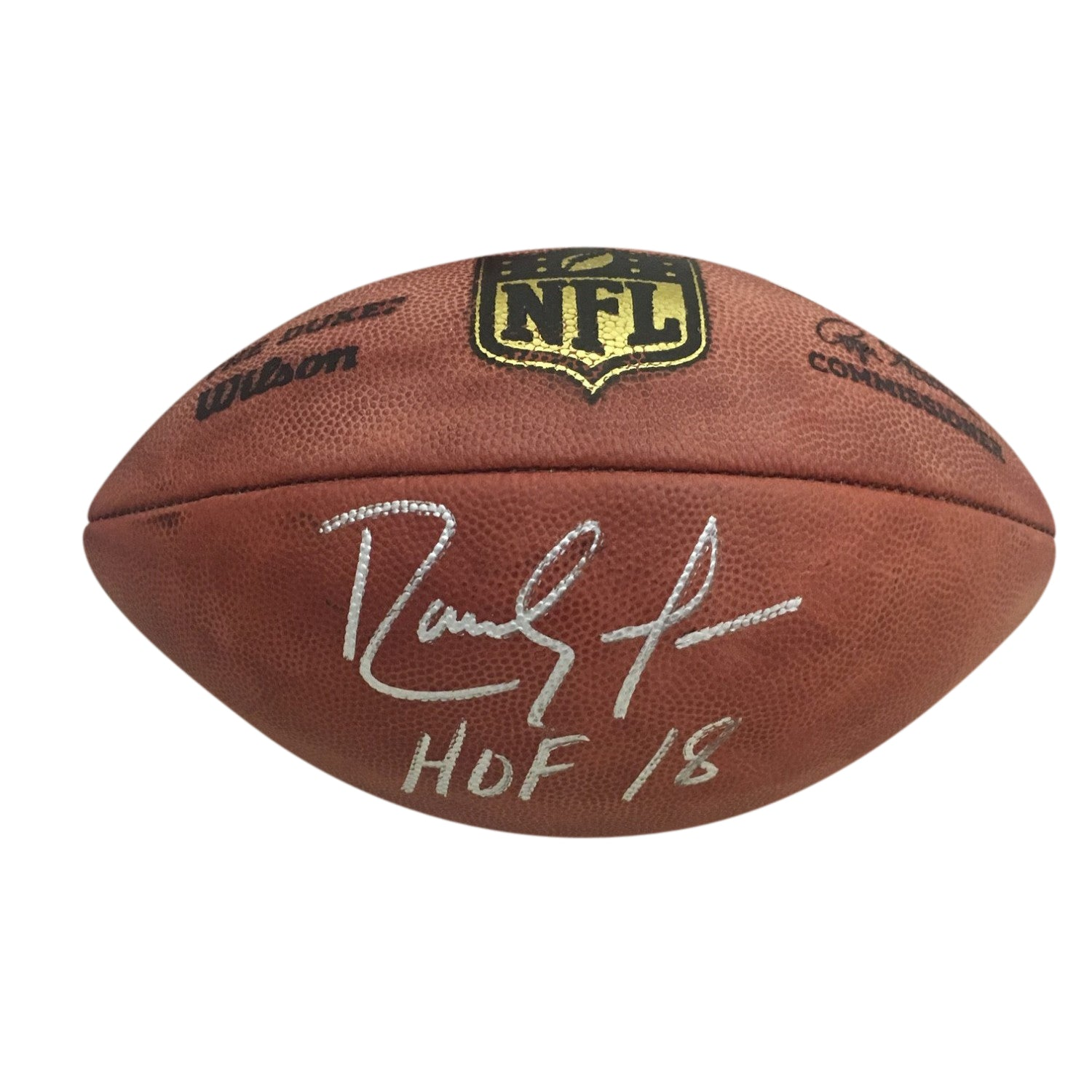 Randy Moss Autographed Minnesota Vikings Hall of Fame HOF 18 Signed NFL Authentic Duke Football Beckett BAS COA-Powers Sports Memorabilia