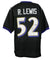 Ray Lewis Signed Black Pro-Style Custom Football Jersey HOF 18 Inscribed JSA PSM-Powers Sports Memorabilia