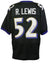 Ray Lewis Signed Black Pro-Style Custom Football Jersey JSA PSM-Powers Sports Memorabilia