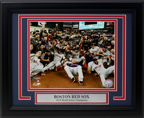 Boston Red Sox Framed 2018 World Series Champions Team Group 8x10 Photo PSM-Powers Sports Memorabilia