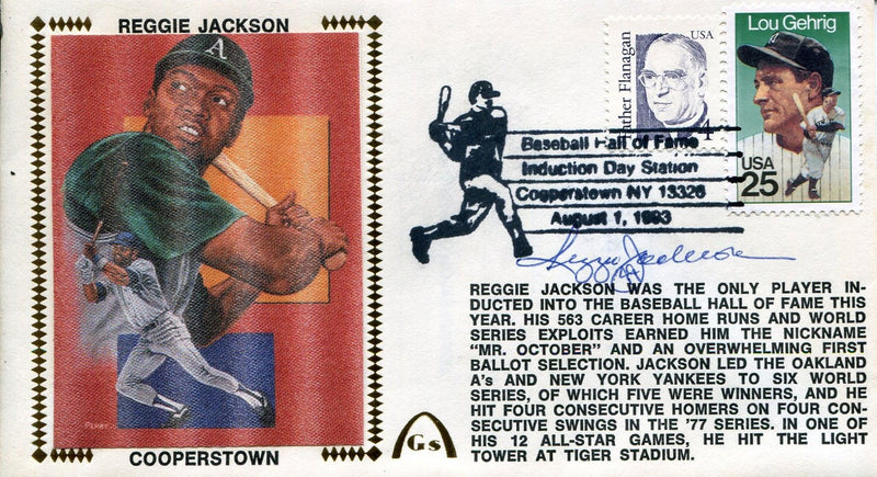Reggie Jackson Autographed Gateway First Day Cover PSM-Powers Sports Memorabilia