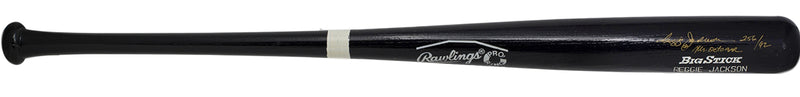 Reggie Jackson New York Yankees Singed Rawlings Baseball Bat Mr October UDA PSM