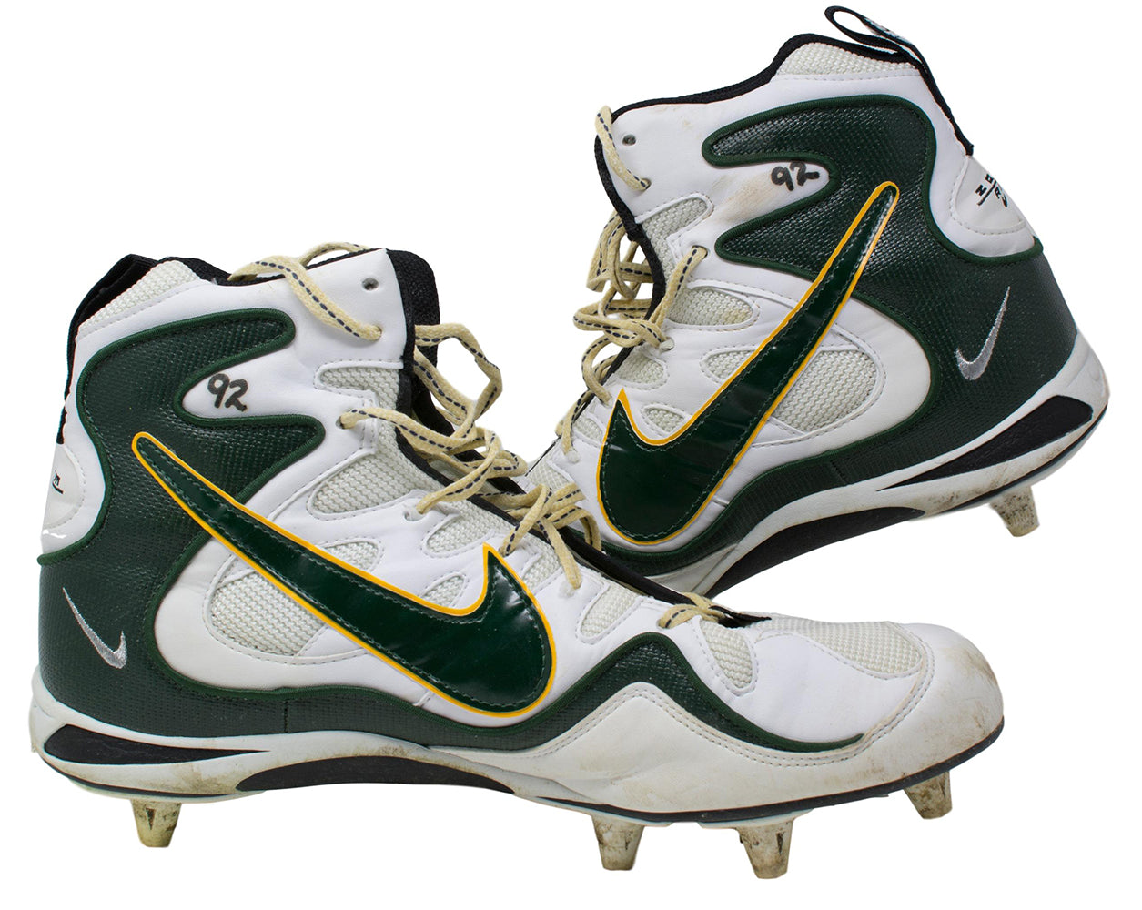 Reggie White Green Bay Packers Game Used Cleats Sept 14th 1997 Vs Miami Dolphins PSM
