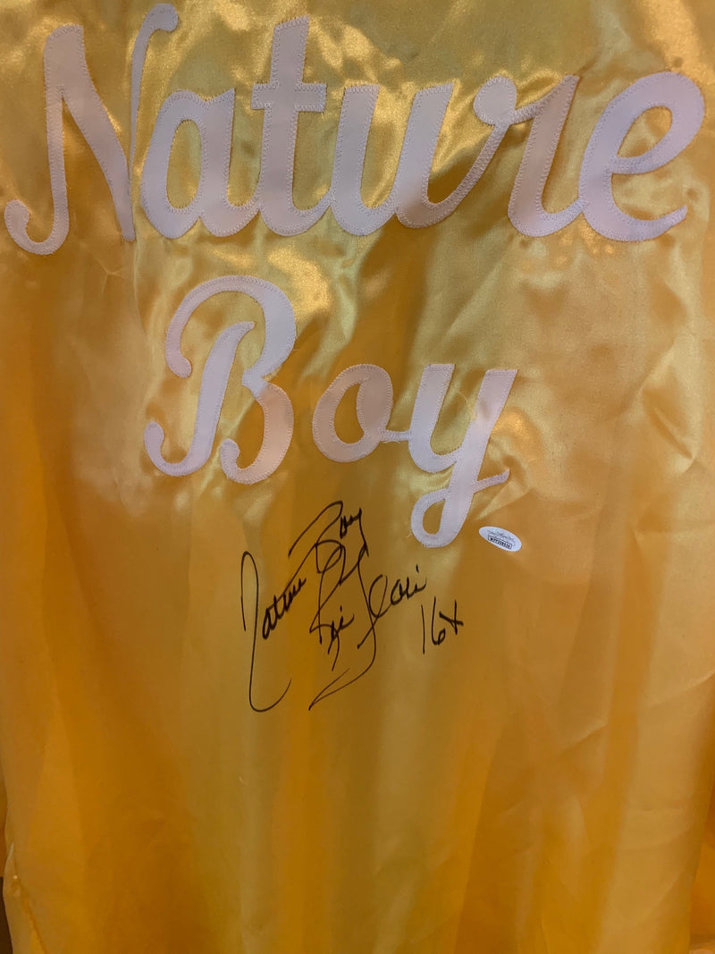 Ric Flair Autographed Nature Boy Signed Wrestling Robe 16 x Champion JSA COA-Powers Sports Memorabilia