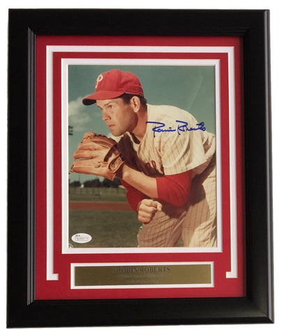 Robin Roberts Signed Framed Phillies 8x10 Photo JSA PSM-Powers Sports Memorabilia