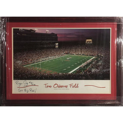 Roger Craig Autographed Nebraska Football 19x29 Framed Photo Photo-Powers Sports Memorabilia