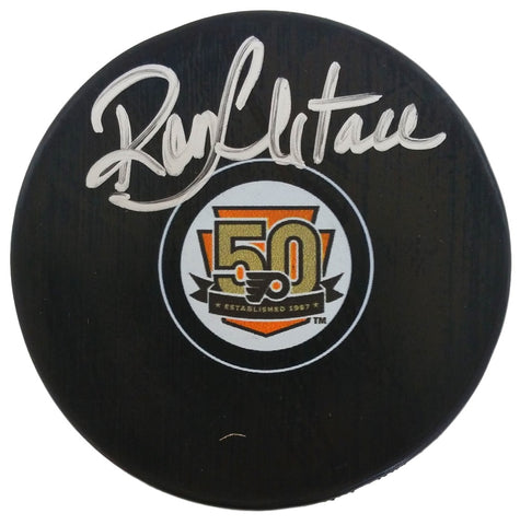 Ron Hextall Signed Philadelphia Flyers 50th Anniversary Replica Puck JSA PSM-Powers Sports Memorabilia