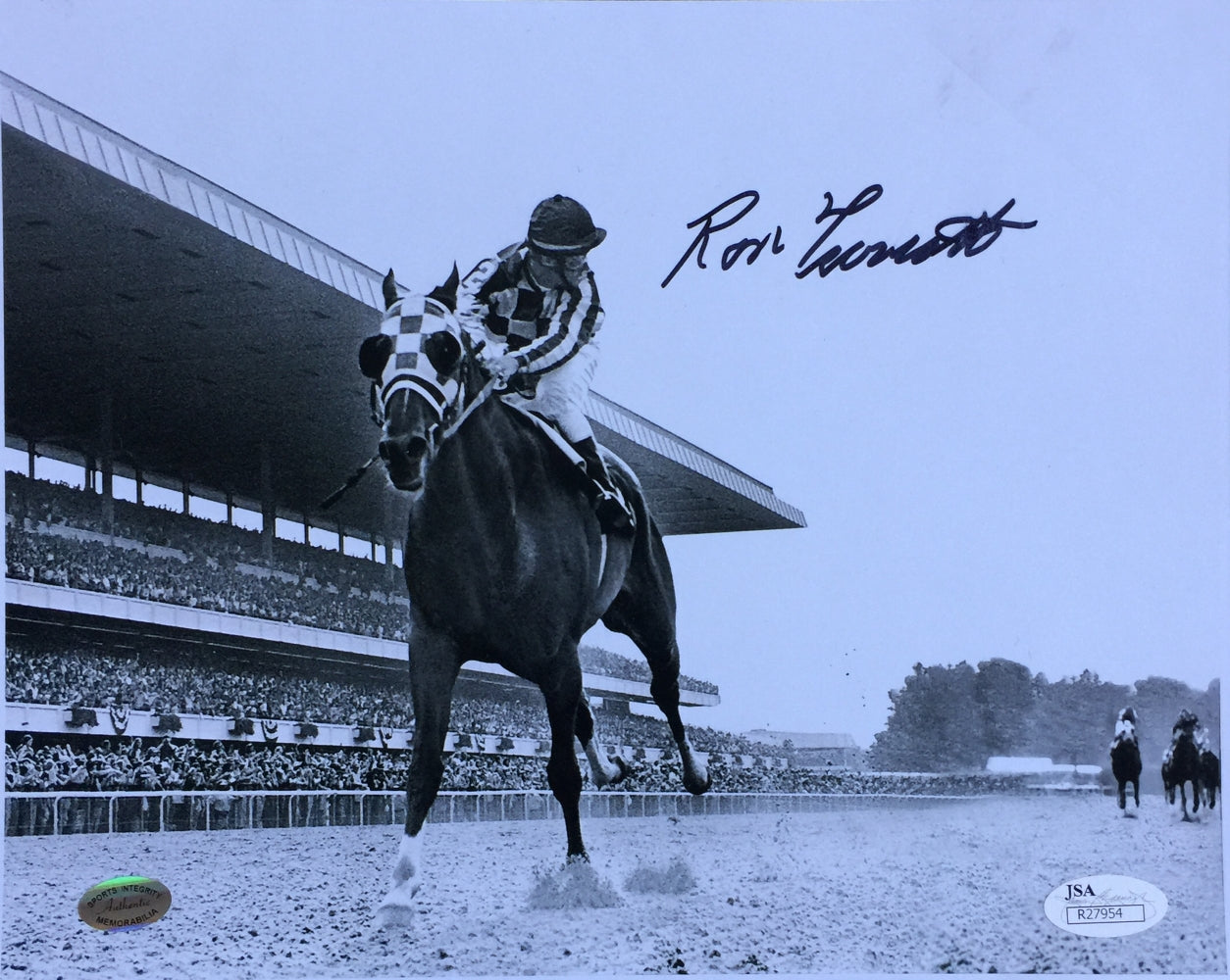 Ron Turcotte Signed 8x10 Secretariat 1973 Belmont Stakes Photo JSA PSM-Powers Sports Memorabilia