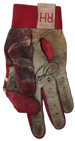 Ryan Howard Signed Game Used Phillies Batting Glove BAS F07443+Howard LOA PSM-Powers Sports Memorabilia