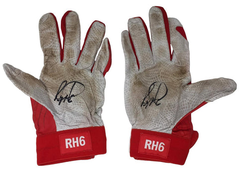Ryan Howard Signed Game Used Phillies Under Armour Batting Gloves BAS+Howard LOA PSM-Powers Sports Memorabilia