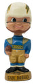 Vintage 1960s San Diego Chargers Gold Base Bobble Head Nodder Great Condition PSM-Powers Sports Memorabilia