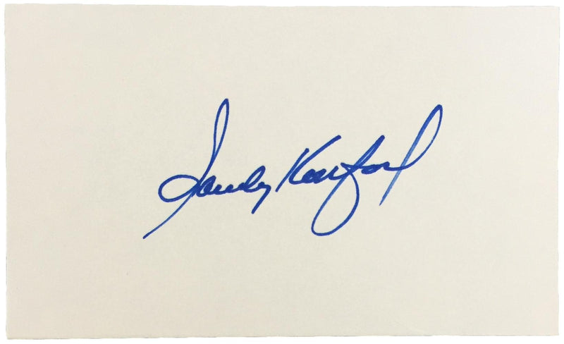 Sandy Koufax Brooklyn Dodgers Signed 3x5 Index Card PSA D25961 PSM-Powers Sports Memorabilia