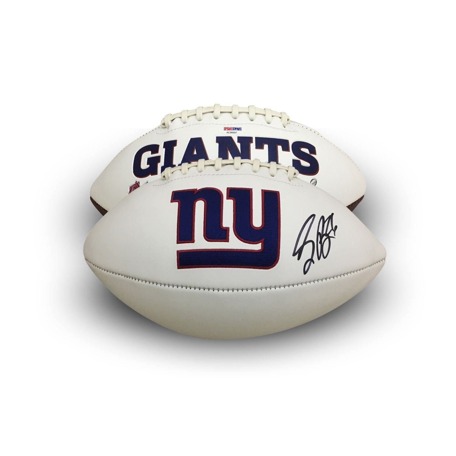 Saquon Barkley Autographed New York Giants NFL Signed Logo Football PSA DNA COA-Powers Sports Memorabilia