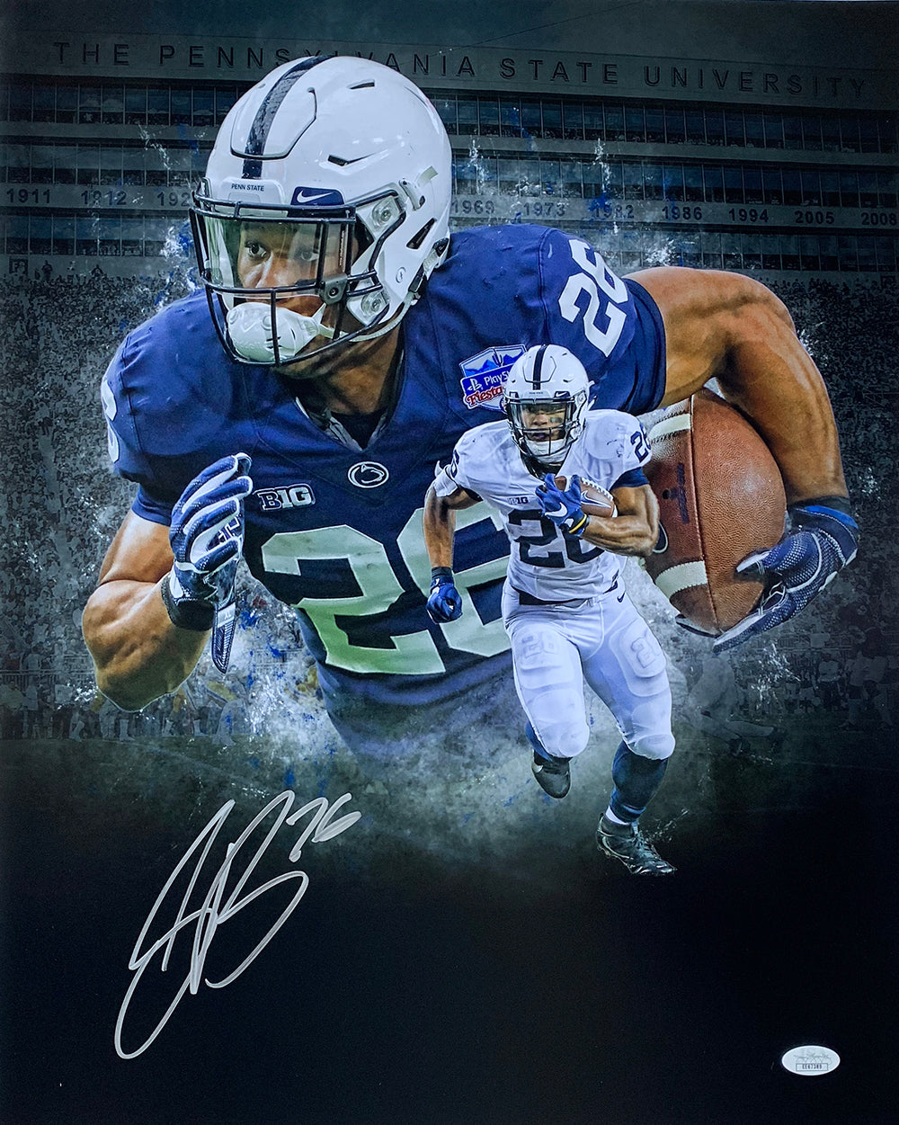Saquon Barkley Signed 16x20 Penn State Collage Photo JSA PSM-Powers Sports Memorabilia