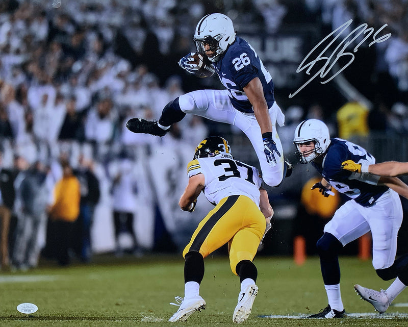 Saquon Barkley Signed 16x20 Penn State vs Iowa Photo JSA PSM-Powers Sports Memorabilia