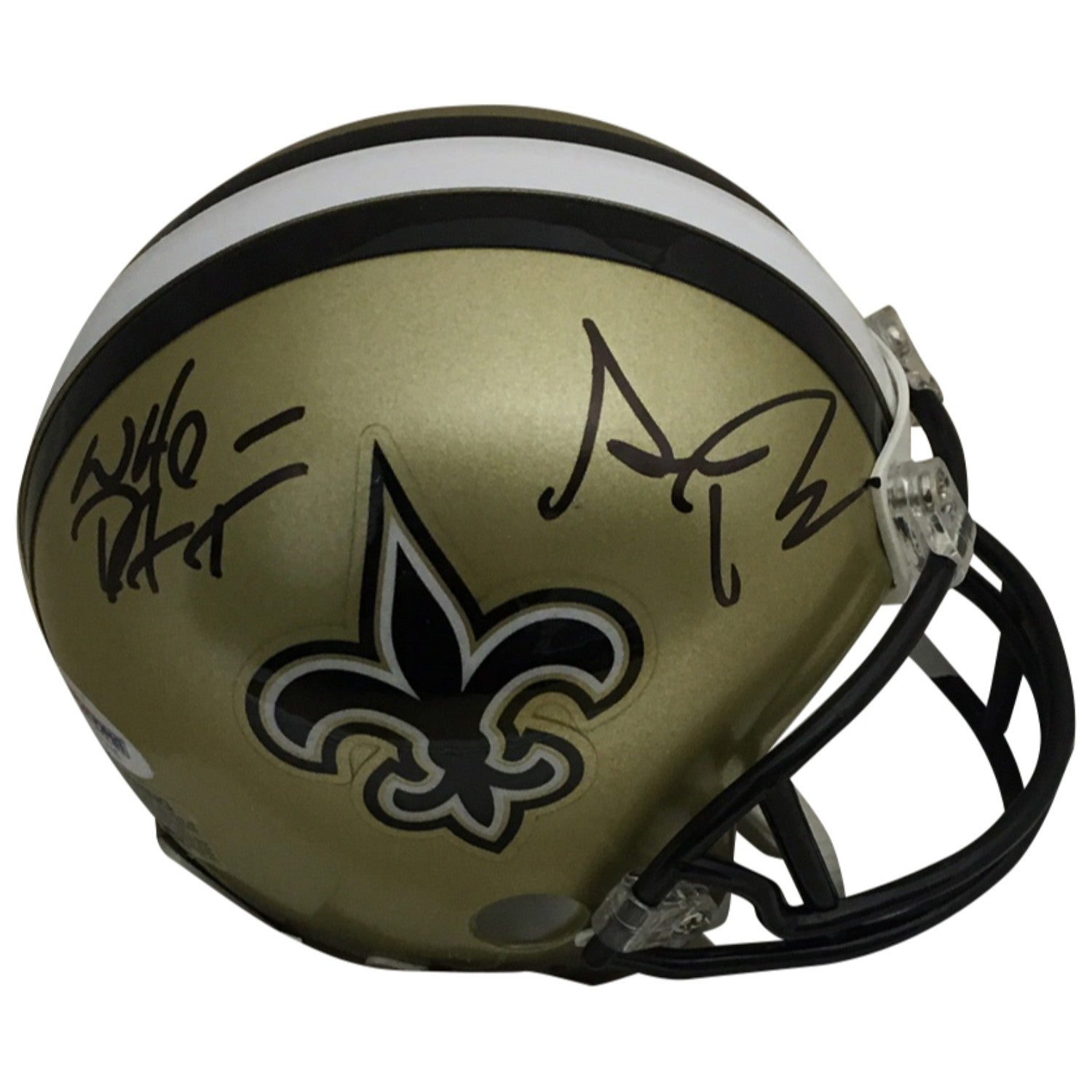 678af5dc4 Sean Payton Autographed New Orleans Saints Signed Football Mini Helmet WHO  DAT PSA DNA COA-