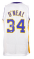 Shaquille O'Neal Signed Custom White Pro-Style Basketball Jersey w/ 24 Patch BAS PSM-Powers Sports Memorabilia