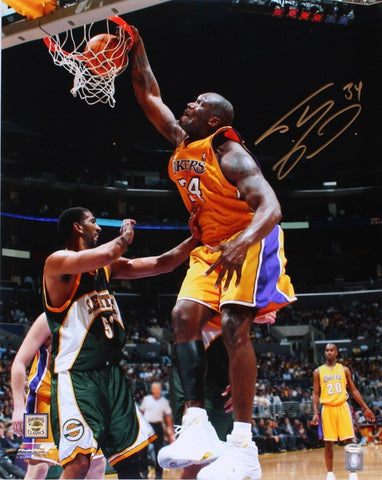Shaquille O'Neal Signed 16x20 Los Angeles Lakers Photo Schwartz PSM-Powers Sports Memorabilia